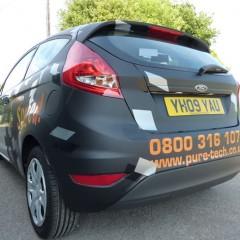 Vehicle Graphics, matt black Half Wrap. Leatherhead, Surrey