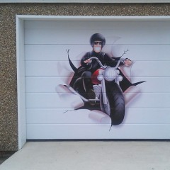 Garage Door Vinyl Wrap, Dunsfold, Surrey