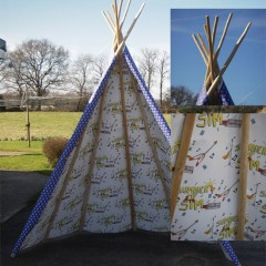 Bespoke Tepee, Sourced, Built and printed, O2, London