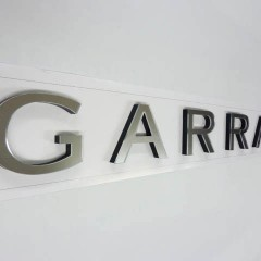 Acrylic Letters. CNC cut mirrored acrylic letters, Garrard