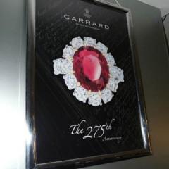 Bespoke LED Lightbox, Polished metal frame with Lightbox graphics. Garrard, Harvey Nichols.