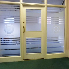 Privacy Film. Office Graphics, Horsham West Sussex