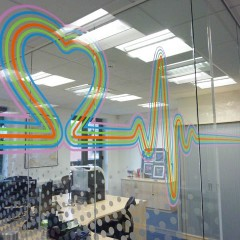Window Film. Office Health and Safety Requirement, Leatherhead Surrey