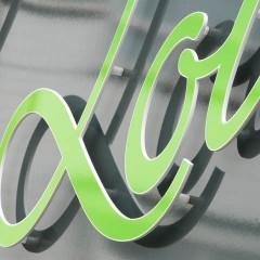 Shop-Signage. CNC cut acrylic letter. Horsham, West Sussex