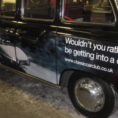 Vehicle Graphics,Taxi Wrap. Digital print. London