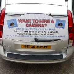 Vehicle Graphics, One Way vision film. West Sussex