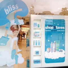 Window Graphics and lightbox film. Bliss Debenhams, Bournemouth