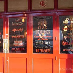 Restaurant Signage. Window Vinyls Café Rouge