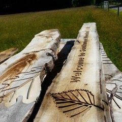 Oak Engraving. Wooden sculpture, Cnc cut oak.