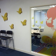 Decorative Windows. Office graphics, Leatherhead Surrey
