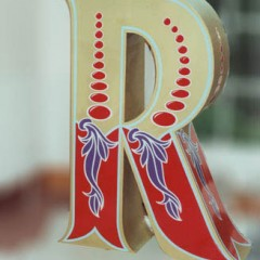 Bespoke Window Display. Giant letters, Painted and decorated.