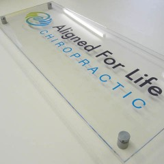 Acrylic Reception Sign with stand off's, Leatherhead, Surrey