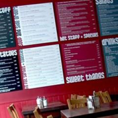 Restaurant Signage. Bespoke Menu boards with digital print, London