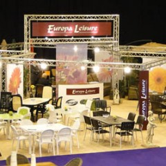 Exhibition Graphics. Complete Stand makeover, Europa Leisure Wiltshire