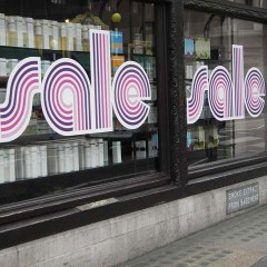 Sale window lettering