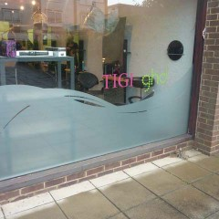 Frosted window graphics, Billingshurst