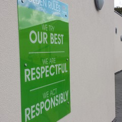 School Values signage sussex