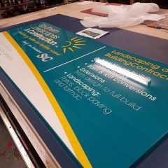 Powder coated Aluminium Signtray with reflective vinyl applied.Horsham, sussex