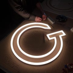 Cnc cut acrylic symbol with LED lighting within