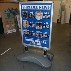 Pavement sign price changeable board