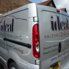 Digital print and cut graphics with matt black vinyl. Horsham, sussex