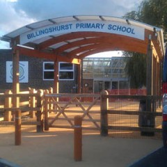 School Entrance Sign West Sussex, CNC Cut acrylic .